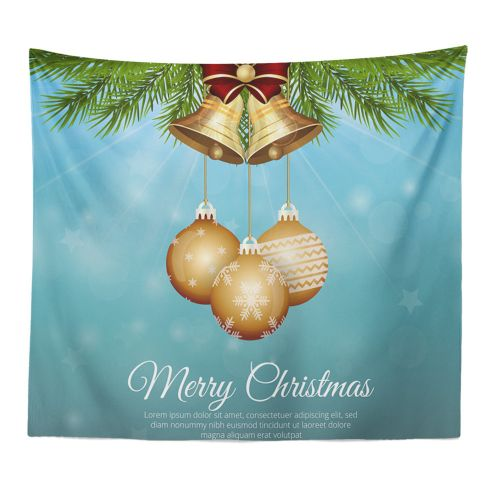 Christmas Xmas Tapestry Hippie Room Bedspread Wall Hanging Throw Blanket