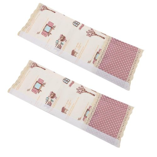 1Pair Anti-static Cotton Handle Cover For Refrigerator Baking Oven Dishwasher Protector Household