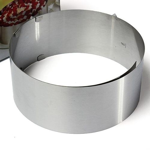 "6""-12"" Stainless Steel 2 Handle Mousse Ring Adjustable Layered Cake Baking Mold"