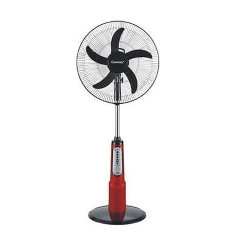 """18"""" Rechargeable Fan+Remote+LED Light RED/BLACK"""