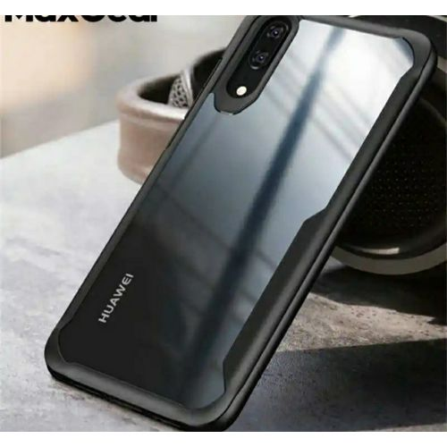Huawei Y9 Prime Clear Hard Back Case And Screen Protector Glass
