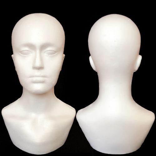 15' Polystyrene Plastic Unisex Head Form Mannequin Display Wig Hat Modern Design