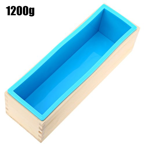Silicone Soap Loaf Mold DIY Making Tools 1200g - Blue