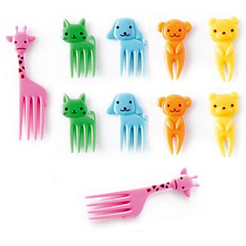 Fruit Forks,Mini Cartoon Forks Cupcake Picks Small Flatware