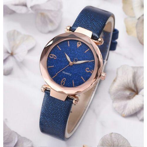 Women Quartz Wristwatch- One Size -Blue