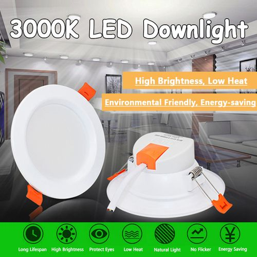1Pcs 7.9in 220V 3000K Warm White LED Spotlight Downlight Lamp