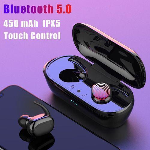 F9 Fingerprint Touch Bluetooth Earphones Headphones