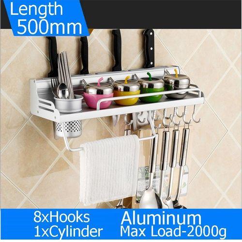 500mm 8 Hooks Space Aluminum Alloy Kitchen Holder