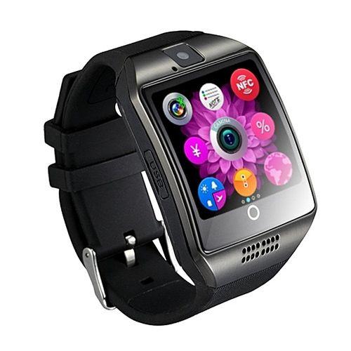 Q18 Bluetooth Smartwatch Health Phone With Sim Card-Black