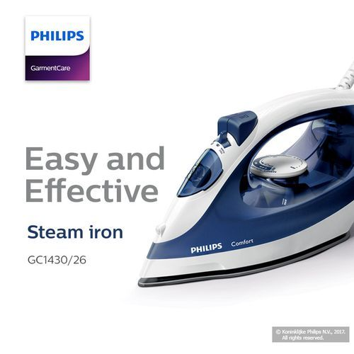 PHILIPS Quality Steel Steaming Iron. 1700w