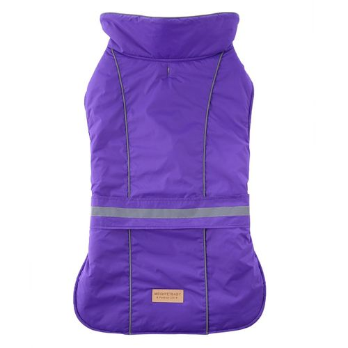MT Dog Jacket Warm Windproof Dog Vest Reflective Strips Sport Winter Sport Coat-purple-M