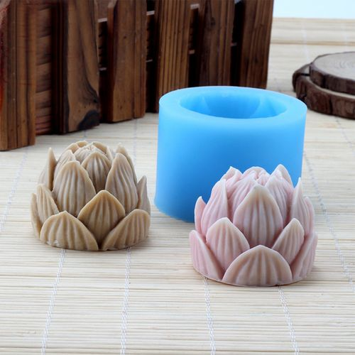 New 3D Lotus Silicone Soap Candle Making Mold Mould Resin Handmade DIY Carft US