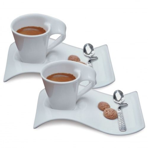 Wave 6 Tea Cup & 6 Saucer
