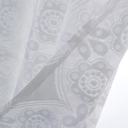 Cortina Corta Short Curtain In Plain White Lace For Tulle Bathroom Curtains