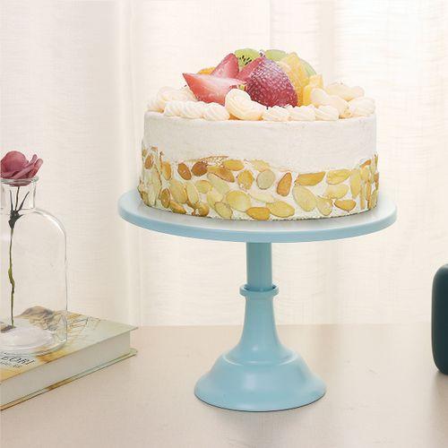 """12"""" Iron Round Cake Stand Pedestal Dessert Holder Wedding Birthday Party Decor"""