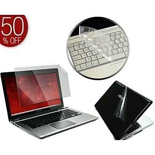 3 In 1 Laptop Skin Protector - For Back Of Laptop, Screen And Keyboard