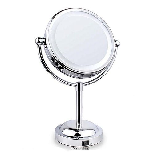 Professional 6 Inch Makeup Mirror With Led Light Compact Cosmetic Mirror Lady'S 3X Double Sided Magnifying Espelho Bath Mirror