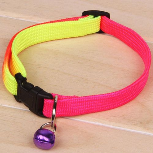 Fashion Pet Puppy Dog Cat Collar Bell Adjustable Safety 1.0CM Harness