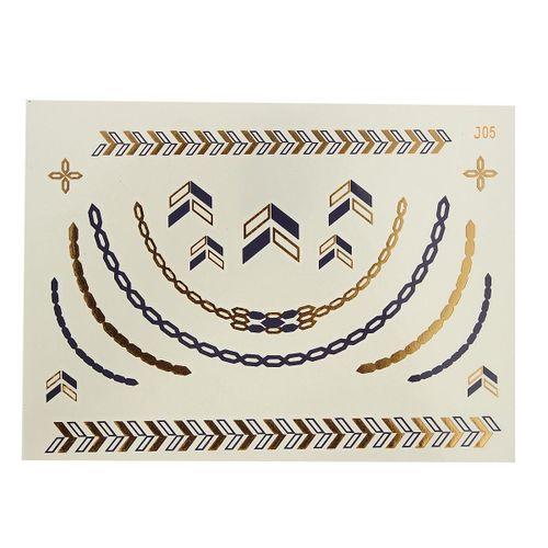 Temporary Metallic Bronzing Sticker Flash Sticker Inspired Sheet J-05 Black And Gold