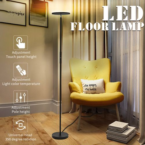7 Colors Adjustable LED Floor Lamp Light Home Dimmable-Remote Type