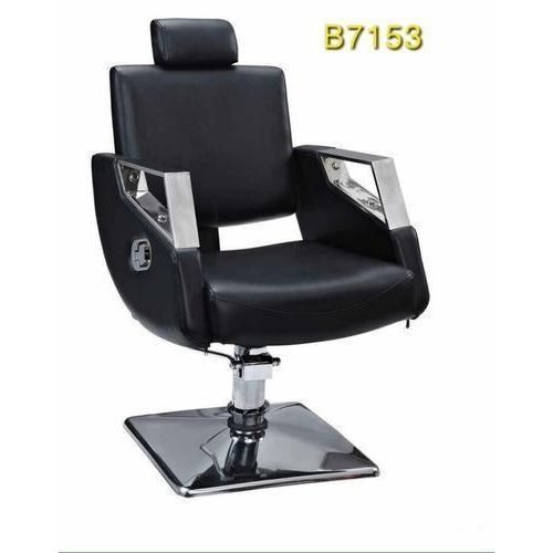 STRONG LEATHER BARBER CHAIR - BLACK