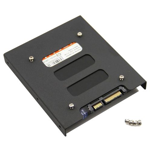 SSD HDD To 3.5 Inch Metal Mounting Adapter Bracket - Black