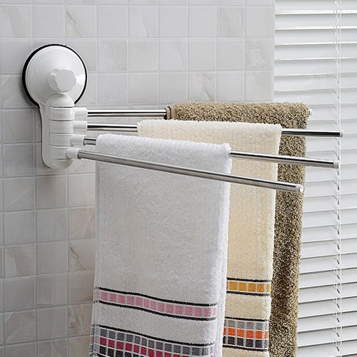 4 Posts Stainless Steel Towel Bar Holder Swivel Towel Rack Bathroom Accessories For Home