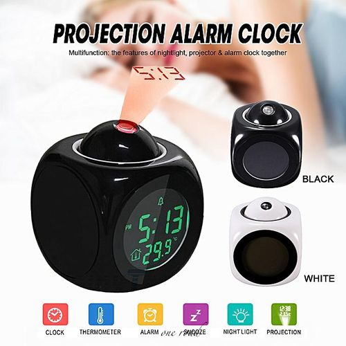 Alarm Clock Multi-Function Digital Lcd Voice Led Projection