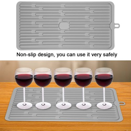Silicone Kitchen Draining Mat Wine Glasses Tableware Drying Mat Foldable Drain Pad Insulation Pot Mat Tableware