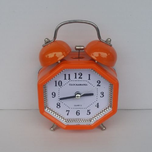 OCTAGON Bell Alarm Clock - Orange