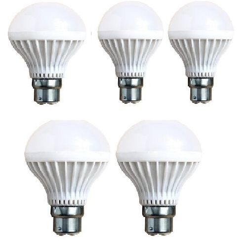 5 Pieces Of 7W LED Emergency Rechargeable Bulb PIN ..