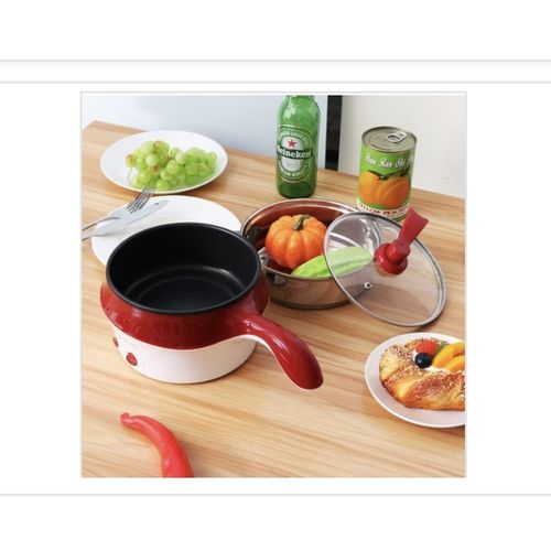 18CM Double-Layer Stainless Steel Mini Electric Pot Pan Cooker Cooking Fry Stew