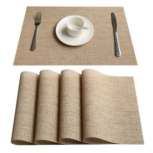 8pcs/lot PVC Kitchen Dinning Placemats For Table Mat Manteles Individuales Doilies Cup Mats Coaster Water Proof Table Cloth Pad HIS