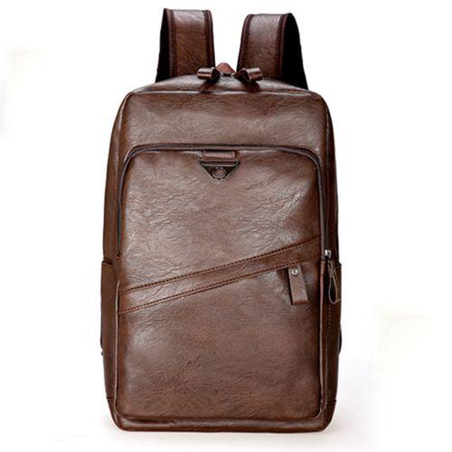 Men Leather Book Backpack School Travel Laptop Bag Shoulder Handbag Satchel