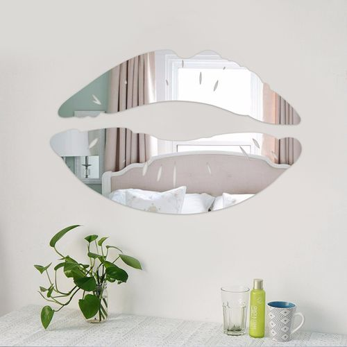 Wall Sticker Removable 3D Mirror Kiss Lip Decal DIY Home Room Art Mural Decor