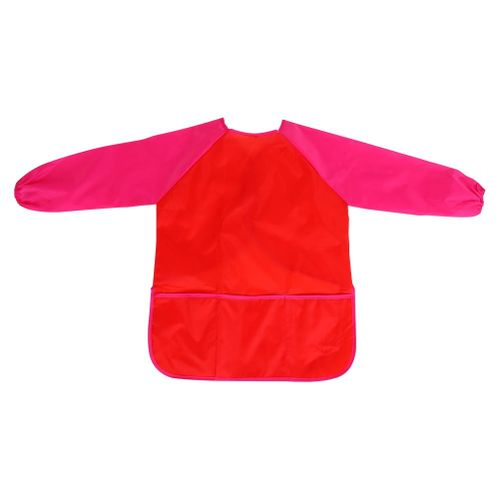 Child Kids Waterproof Craft Apron Drawing Painting Cooking Smock With Pocket
