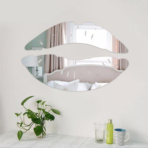 Wall Sticker Removable 3D Mirror Kiss Lip Decal DIY Home Room Art Mural Decor
