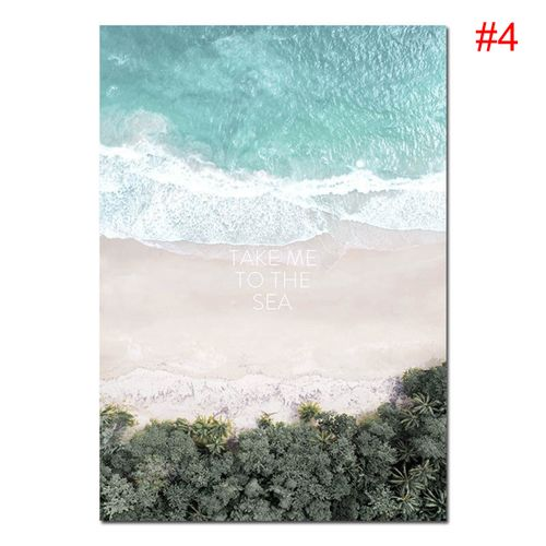 Scandinavian Beach Travel Landscape Poster Nordic Wall Prints - 21*30cm