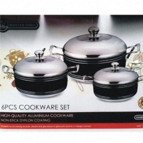 Large Non-Stick ''Premium'' Cookware Pots Set- 3 Sets