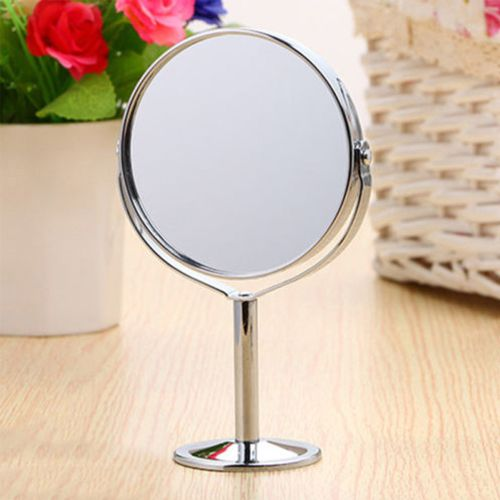 Desk Stand Portable Cosmetic Makeup Mirror Double-Sided Magnifying Mirror