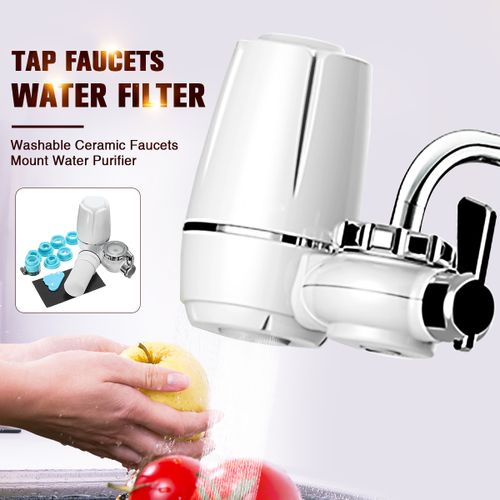 Kitchen Water Filter Mount Water Purifier+Washable Ceramic Cartridge Tap Faucet