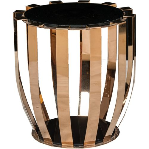 Home Furniture Black And Gold Cocktail Side Stool