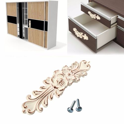 New Stylish Beautiful Design Antique Flower Door Drawer Cabinet Closet Walldrobe Furniture Handle Pull Knob Best Price