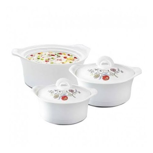 3 Pieces Set Insulated Casserole With Airtight Lid