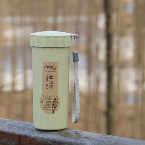 Meibaol Store 450ml Nature Wheat Straw Portable Water Bottle Drink Container Cup Mug -Green