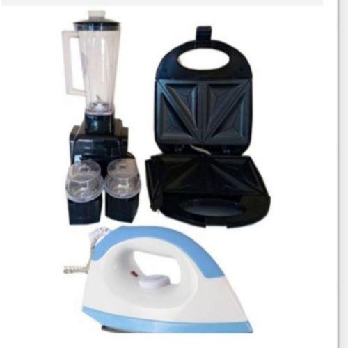 Saisho Blender+ Toaster + Iron (Gift Bundle