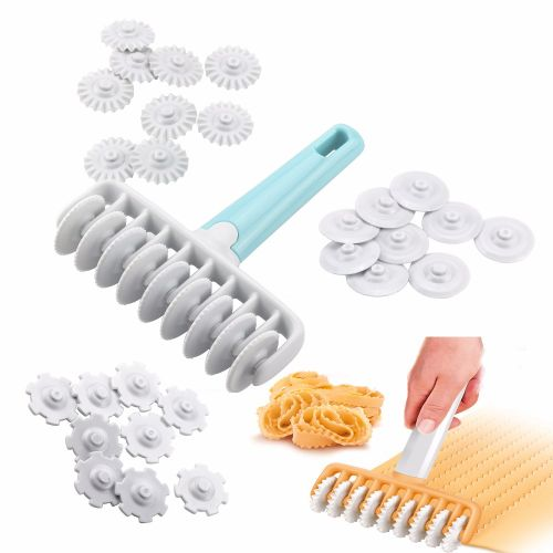 [Free Shipping] NEW 2019!!! 4 Different Gear Dough Rollers Italian Bread Dessert Baking Tools 37pcs/set Kitchen Baking Tool
