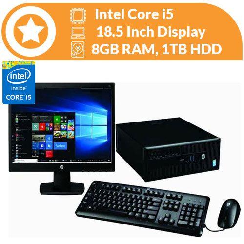 Elitedesk 800 SFF Intel Core I5 (3.2gHZ) 8GB Ram 1TB HDD, Win 10 Pro & MS Office Pro Preloaded