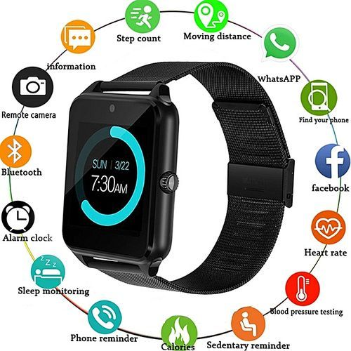 Metal Strap Smart Watch Supports Android & IOS