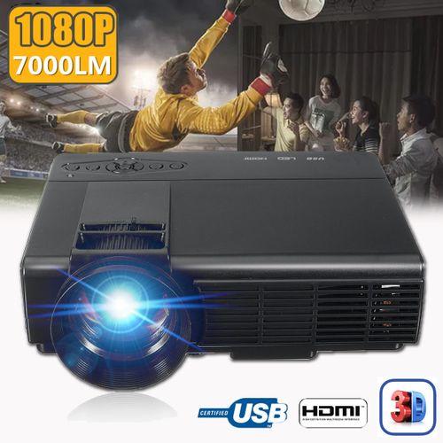 7000 LUMENS 3D 1080P FULL HD HOME THEATER MULTIMEDIA VGA USB HDMI LED PROJECTOR